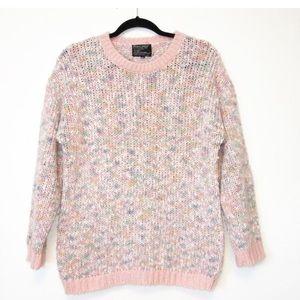 Vintage 80s Pastel Heathered Crewneck Sweater